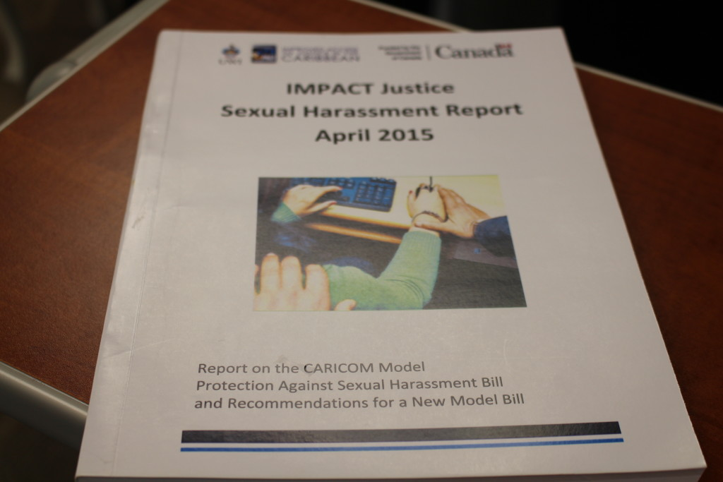 IMPACT JUSTICE REPORT ON CARICOM MODEL PROTECTION AGAINST SEXUAL HARASSMENT BILL, 1996